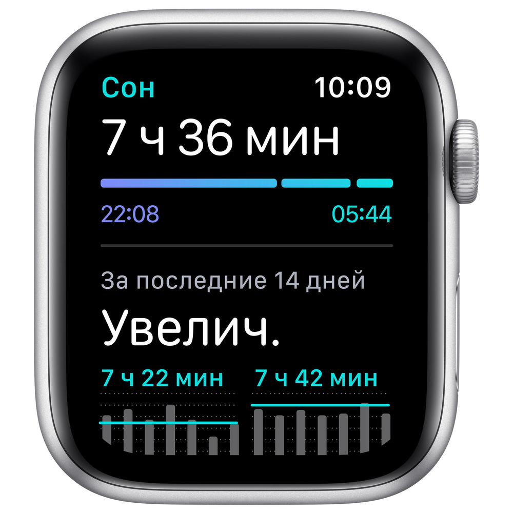 Apple Watch SE GPS, 44mm Silver Aluminium Case with White Sport Band - Regular