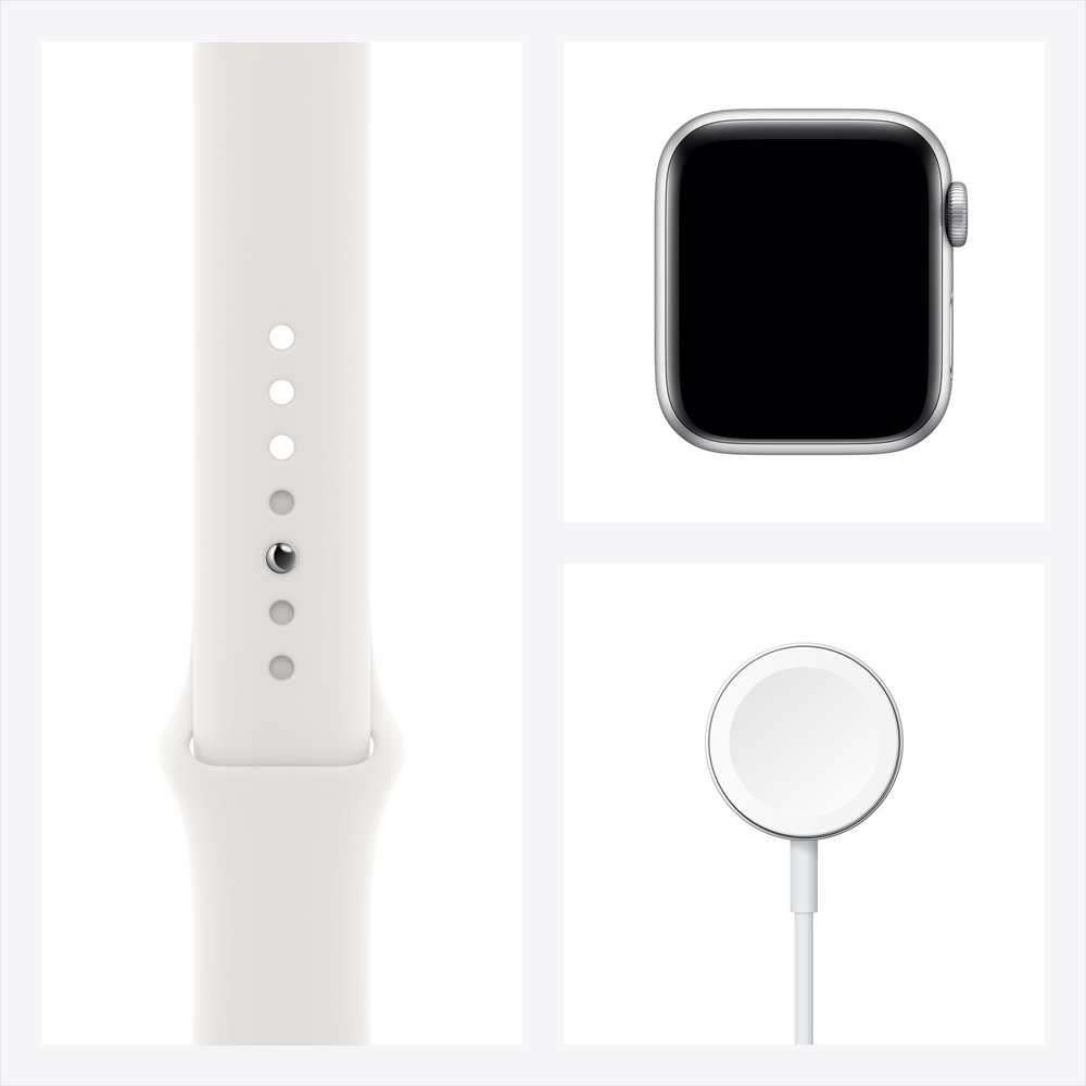 Apple Watch Series 6 GPS, 40mm Silver Aluminium Case with White Sport Band - Regular